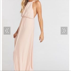 Show Me Your Mumu Amanda Maxi Dress- Dusty Blush